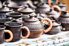 Clay tableware Royalty Free Stock Photo