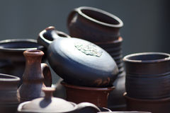Clay tableware royalty free stock image