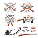 Clay Target Emblems And Design Elements Royalty Free Stock Image