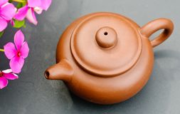 Clay tea pot Royalty Free Stock Images