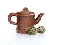 Clay tea pot Stock Photography