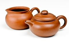 Clay tea pots Royalty Free Stock Photo
