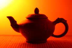 Clay teapot Stock Photos