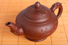 Clay teapot Royalty Free Stock Photos
