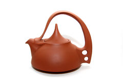 Clay teapot Stock Images