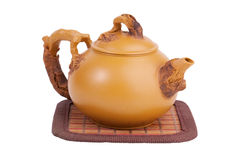 Clay teapot for brewing tea Stock Images