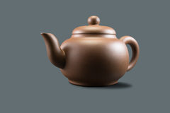 Clay Teapot púrpura Fotos de archivo