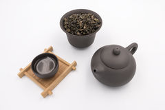 Clay Teapot porpora Fotografia Stock Libera da Diritti
