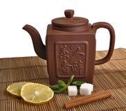 Clay teapot Stock Photo