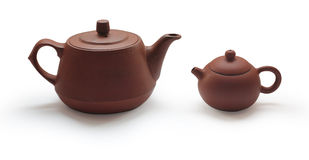 Clay Teapots Stock Images