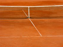 Clay tennis court Stock Photography