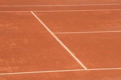 Clay tennis court closeup Stock Images