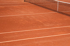 Clay tennis court closeup Royalty Free Stock Photography
