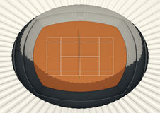Clay Tennis Court In The Day Stock Images