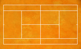 Clay tennis court Stock Image