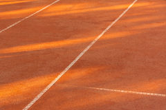 Clay tennis court Royalty Free Stock Image