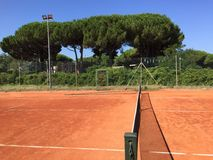 Clay tennis courts Stock Images