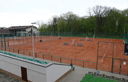 Clay tennis courts Stock Image
