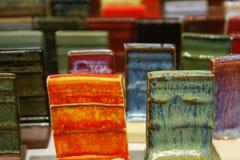 Clay Test Tiles Royaltyfri Fotografi