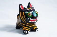 Clay tiger Stock Photo
