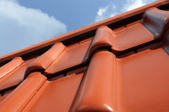 Clay tile roof Royalty Free Stock Photo
