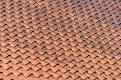Clay Tiled Roof Pattern Royalty Free Stock Photos