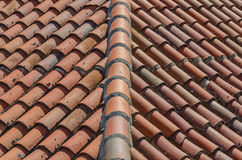 Clay tiles roof Royalty Free Stock Image