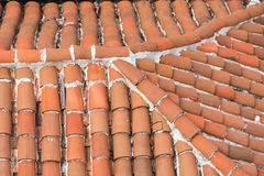 Clay tiles roof in old town Stock Images