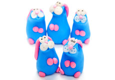 Clay toys Stock Images