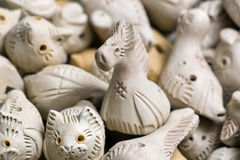 Clay toys. Udmurt style Royalty Free Stock Photos