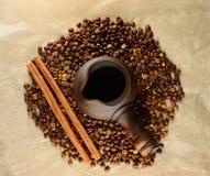 Clay Turk with cinnamon sticks Stock Photo