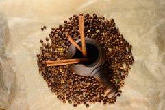 Clay Turk with cinnamon sticks Royalty Free Stock Photo