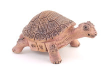 Clay turtle figurine Stock Images