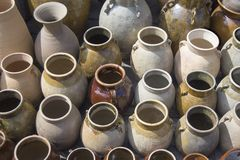 Clay vases. China royalty free stock images