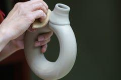 Clay Vessel Handmade Imagens de Stock