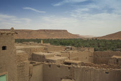 Clay village in Morocco Royalty Free Stock Photography