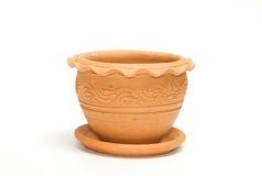 Clay vintage plant pot Royalty Free Stock Photo