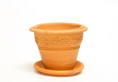 Clay vintage plant pot Royalty Free Stock Image