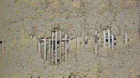 Clay wall. Stock Photography