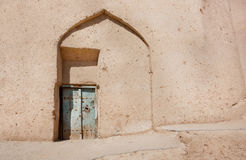 Clay walls of poor house in Middle East. Persian architecture Royalty Free Stock Images