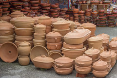 Clay ware for sale 2 Royalty Free Stock Photo