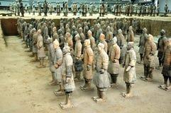 Clay warriors Stock Image