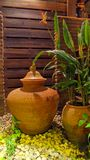 Clay water jar Royalty Free Stock Images