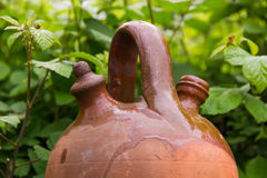 Clay Water Pitcher Botijo Stock Afbeelding