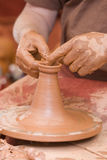 Clay on the whell-head. Stock Photo