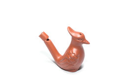 Clay whistle in the bird shape Royalty Free Stock Photo