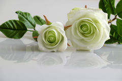 Clay white roses flower Stock Photos