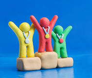 Clay Winners royalty free stock images