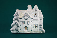 Clay winter house Stock Image