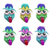 Clay zombie heads Stock Images